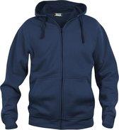 Clique Basic hoody full zip Donker Navy maat XXXL