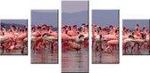 Art4-all - Canvas Schilderij Flamingo's - 160x80cm