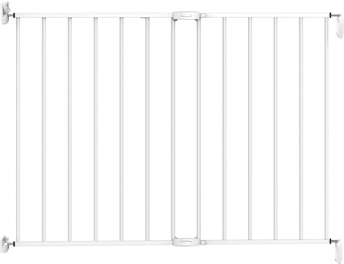 Noma extending metal gate Traphekje - 62 t/m 102 cm - wit