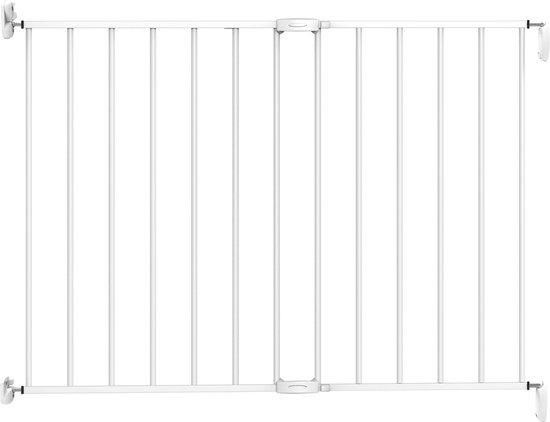 Product: Noma extending metal gate Traphekje - 62 t/m 102 cm - wit, van het merk Noma