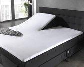 Home Care - Molton splittopper - Katoen - 160 x 200/220 cm - Wit