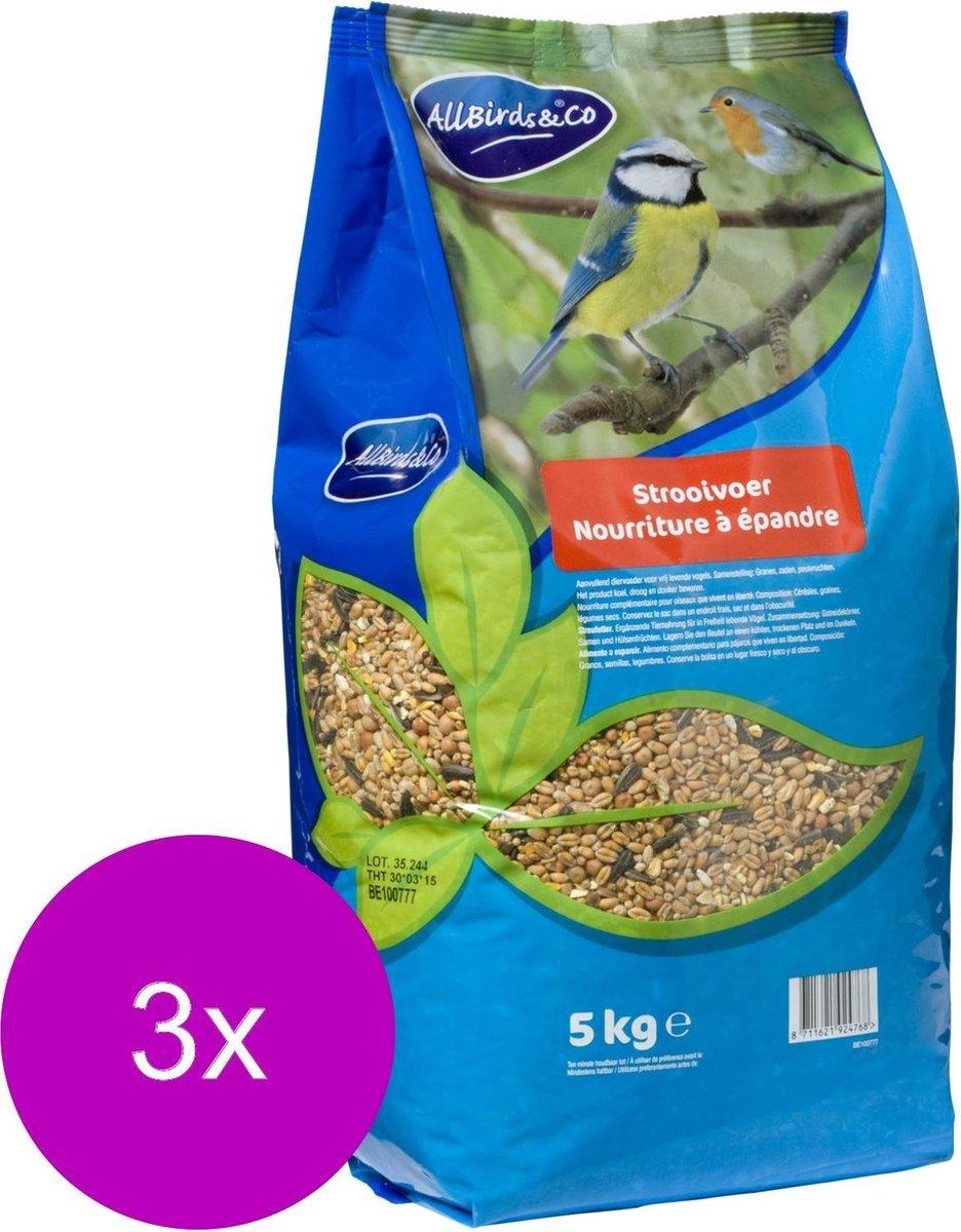 Allbirds&Co Strooivoer Vogelvoer - 3 x 5 kg