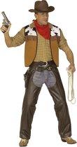 Cowboy & Cowgirl Kostuum | Bruine Chaps, Lederlook XL Man | Medium | Carnaval kostuum | Verkleedkleding