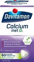 Davitamon Calcium Met Vitamine D3 Voedingssupplement - 60 kauwtabletten - mint