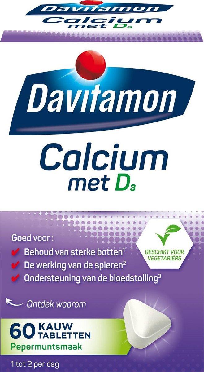 Davitamon Calcium met vitamine D3 - Pepermuntsmaak - Voedingssupplement