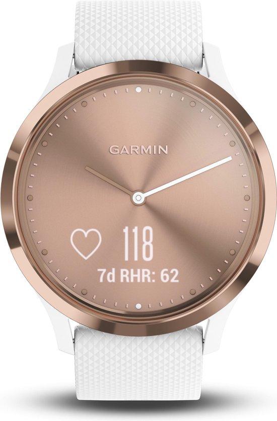 Garmin Vivomove HR - Hybride Smartwatch - 43 mm - Roségoud/wit