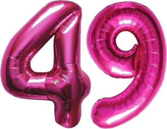 Cijfer 49 Magenta Helium 86 cm Excl. helium