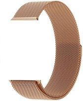 Milanese Loop Armband Voor Apple Watch Series 4 40 MM Iwatch Metalen Milanees Horloge Band - Rose Goud Kleurig
