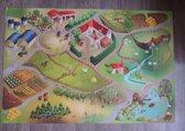 Groot speelkleed boerderij 100x150