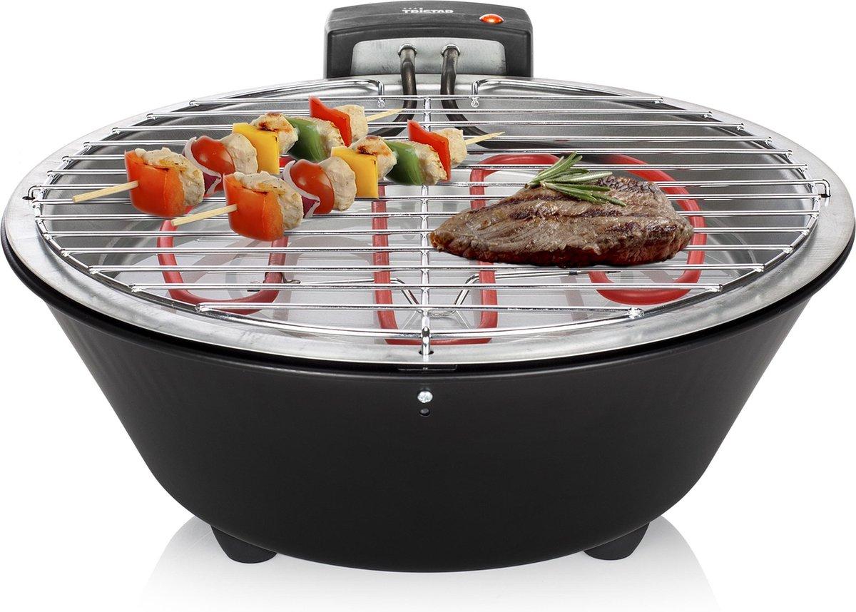 Tristar BQ-2884 Elektrische barbecue - Grilloppervlak Ø30 cm - 1250W - Zwart
