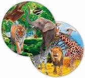 8x Safari/jungle themafeest bordjes 23 cm