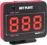 Net Playz Smart Pro Speed Vision Speed Radar + Video Recorder - Black/Red