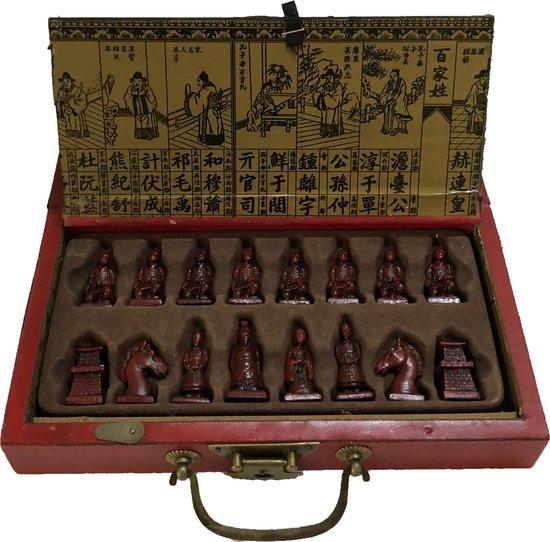 LIPIN YOTI | Schaakbord Chinese Stijl | X'ian Terracotta Schaakstukken