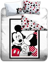 Disney Mickey Mouse Kiss - Dekbedovertrek - Lits Jumeaux - 240 x 220 cm - Multi