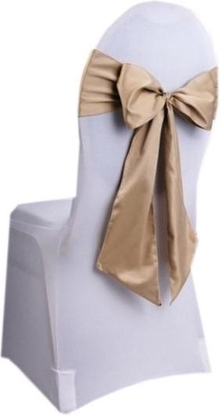Beste bol.com   Bruiloft stoel decoratie gouden strik - Huwelijk stoel WW-74