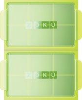 Zoku Jumbo IJsblokjesmaker - 2 Stuks - Groen