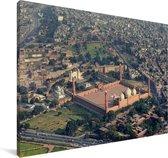 Luchtfoto van Lahore Canvas 140x90 cm - Foto print op Canvas schilderij (Wanddecoratie woonkamer / slaapkamer)