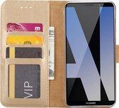Huawei Mate 10 Lite Portemonnee hoesje / book case Champagne Goud
