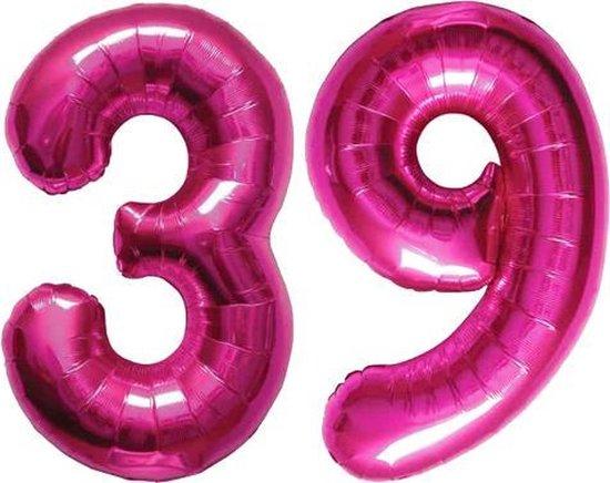 Cijfer 39 Magenta Helium 86 cm Excl. helium