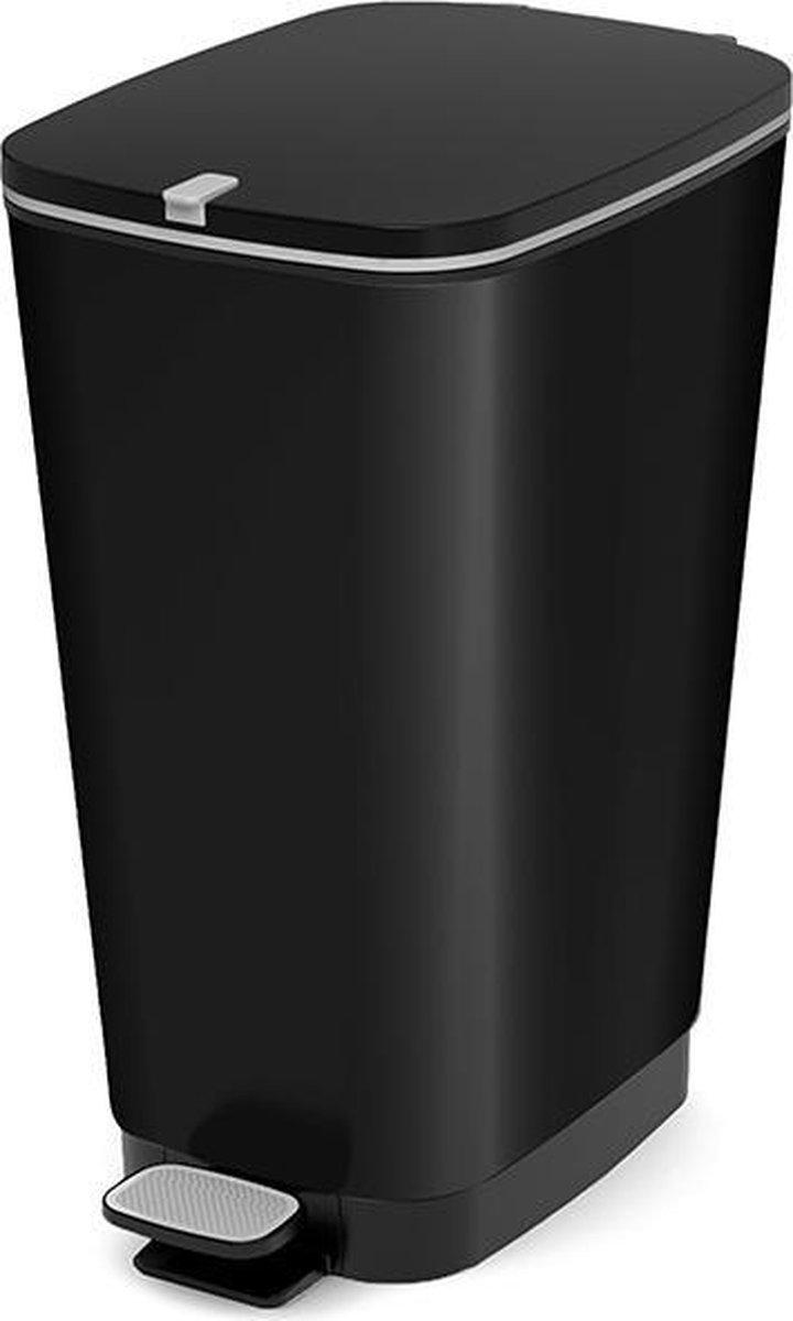 Kis Chic Bin Pedaalemmer - 50 l - Zwart - Maat L op De Prijzenvolger