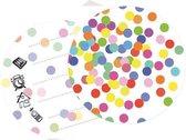 Uitnodigingskaarten confetti 6 stuks
