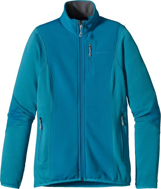 Patagonia W's Pitton Hybrid Jacket - dames - fleecevest - L - blauw
