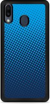 Huawei Y6 2019 Hardcase hoesje lichtblauwe cirkels