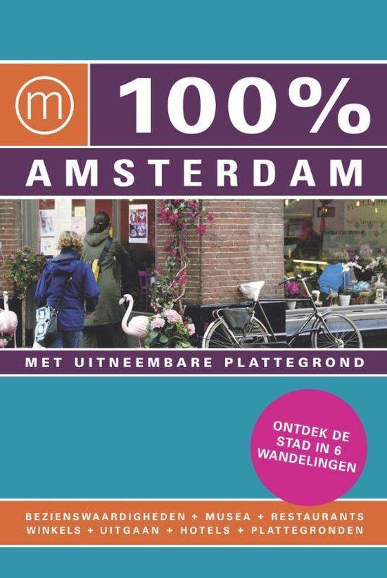Cover van het boek '100% Amsterdam' van Judith Zebeda