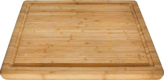 Point-Virgule Snijplank - Vleesplank met Sapgeul - Dubbelzijdig - Bamboe - 40 x 30 x 3cm