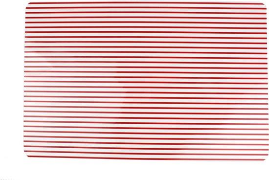 Yong Stripes Placemat - 45 x 30 cm - Rood