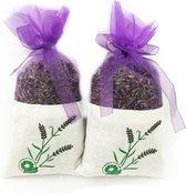 Bio scents Franse Lavendel geur zakjes 2 stuks van 20 gram - biologisch