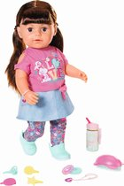 BABY born Soft Touch Sister - Bruin - Babypop 43cm