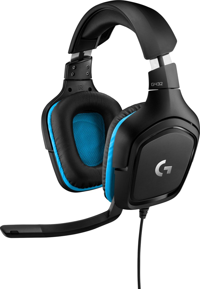 Logitech G432 - Gaming Headset - Zwart & Blauw - PC