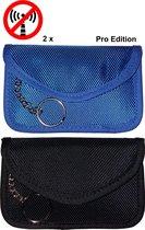 DUOPACK anti diefstal sleuteltasje voor Smartkey 12x7,5 cm dubbele RFID blokkering.