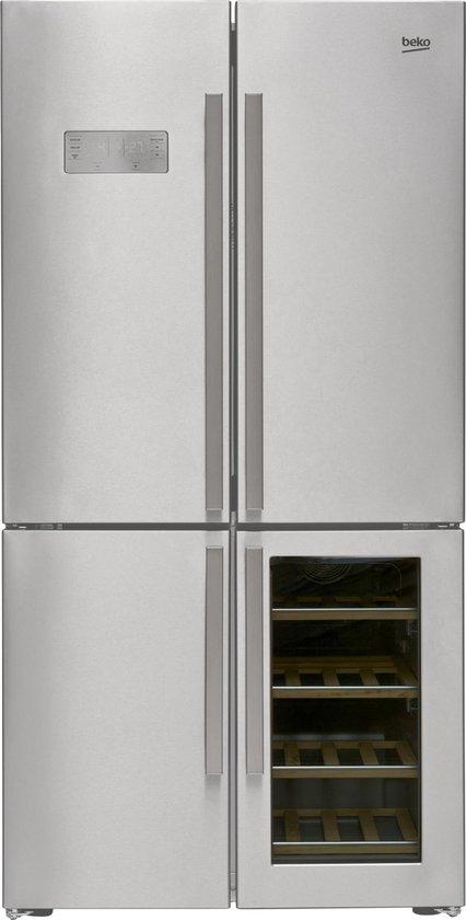 Koelkast: Beko GN1416220CX - Amerikaanse koelkast - met wijnkast, van het merk Beko