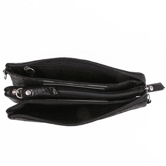 Burkely Mini Bag Lizard - Clutch - Zwart - BURKELY