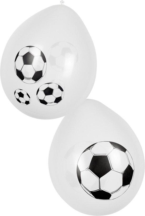 Boland- Decoratie > Ballonnen - Voetbal Latex Ballonnen Wit 25cm 6 stuks