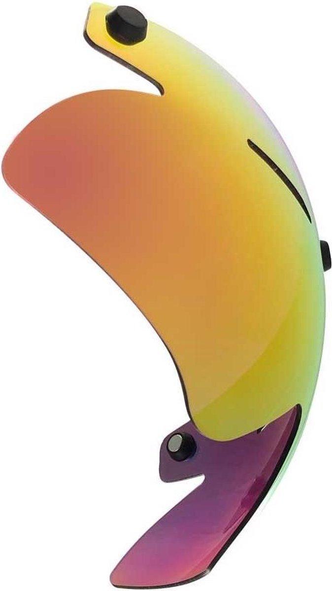 A2 vizier voor Alpha-2 Aero helm | Schaatshelm (donkere lens met geel/rode coating)