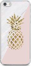 iPhone 5/5S/SE siliconen hoesje - Ananas