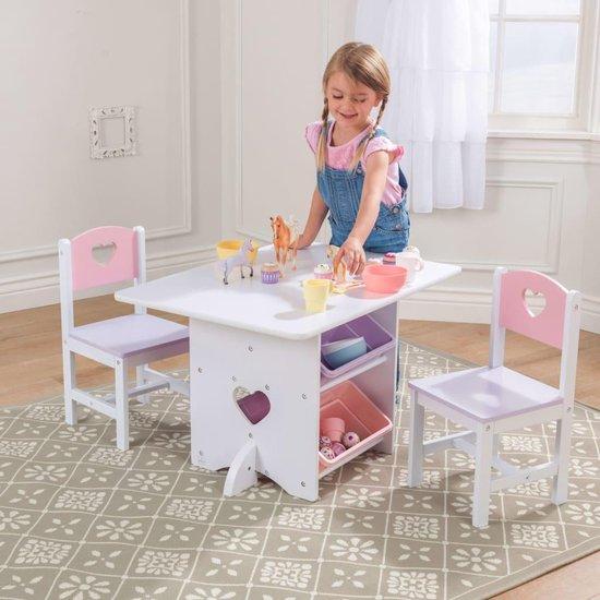 Tafel En 2 Stoelen Met Hartjes - KidKraft