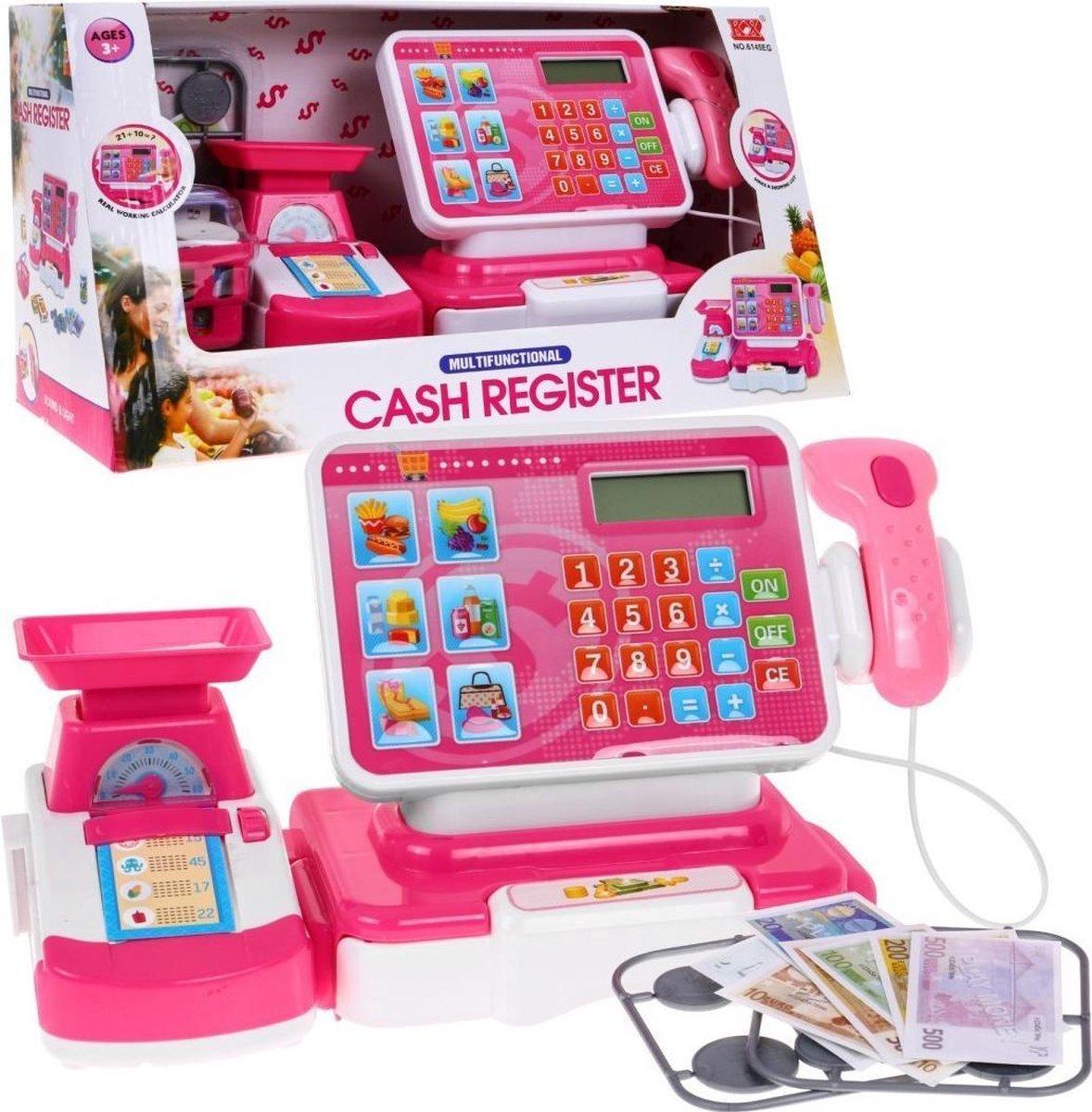 Elektronische Kassa Speelgoedkassa met scanner ROZE
