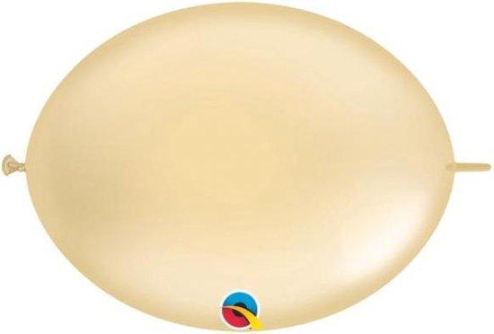 Doorknoopballonnen Quicklink Q12 Pearl Ivory 33 cm (50 stuks)