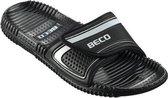 Beco Badslippers Met Klittenband Zwart Unisex Maat 38