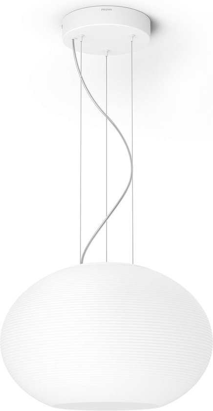Philips Hue - Flourish - White and Color Ambiance - Hanglamp - 1 Lichtpunt - wit - 1 x 3000lm - Bluetooth