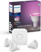 Philips Hue Starterspakket - White and Color Ambiance - GU10 - Bluetooth