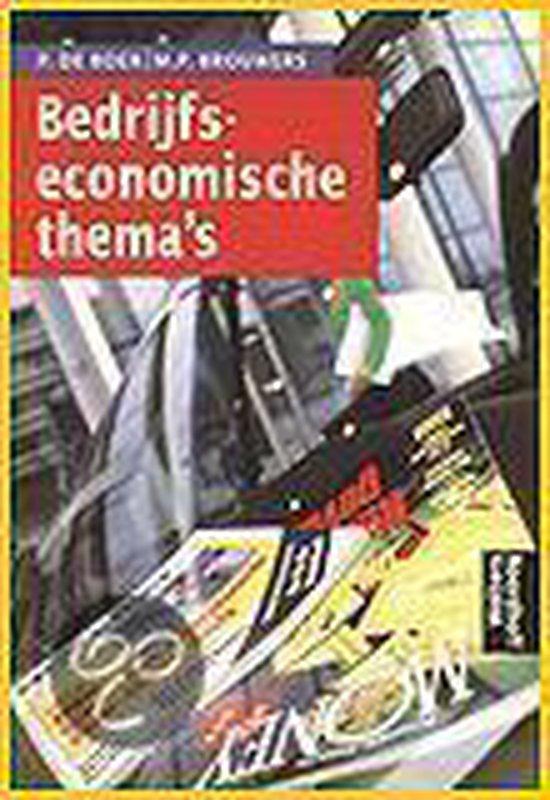 Boek cover Bedrijfseconomische themas van P. de Boer (Paperback)