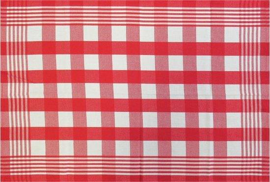 Jorzolino Block Theedoek (12 Stuks) - 50x70 cm - Red