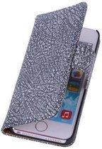 BestCases Glamour Zwart Echt Leer Wallet Case Hoesje Apple iPhone 4 4S