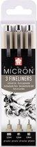 Sakura Pigma Micron 3 zwarte fineliners