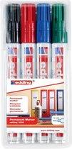edding Permanent Markers - 4 watervaste stiften - Ronde punt van 1,5-3 mm
